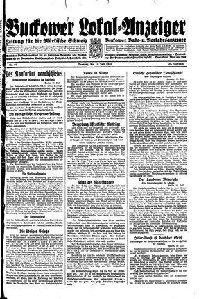 Buckower Lokal-Anzeiger vom 16.07.1933