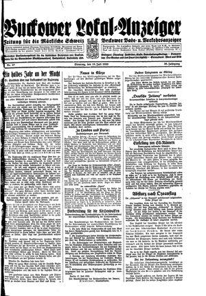Buckower Lokal-Anzeiger vom 18.07.1933