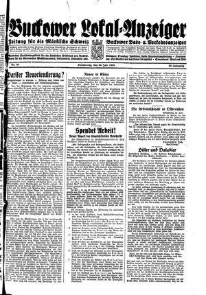 Buckower Lokal-Anzeiger vom 20.07.1933