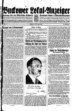 Buckower Lokal-Anzeiger vom 23.07.1933