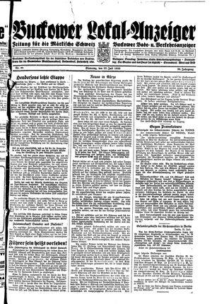 Buckower Lokal-Anzeiger vom 25.07.1933