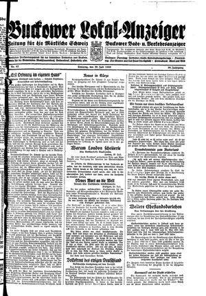 Buckower Lokal-Anzeiger vom 30.07.1933