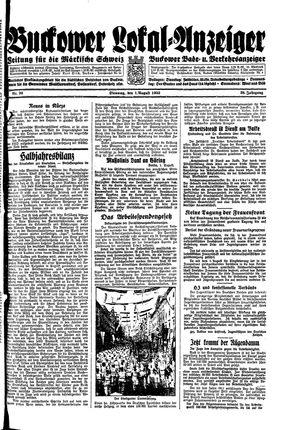 Buckower Lokal-Anzeiger vom 01.08.1933