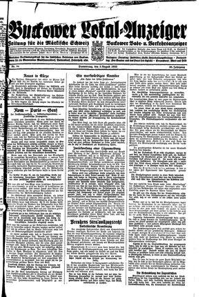 Buckower Lokal-Anzeiger vom 03.08.1933