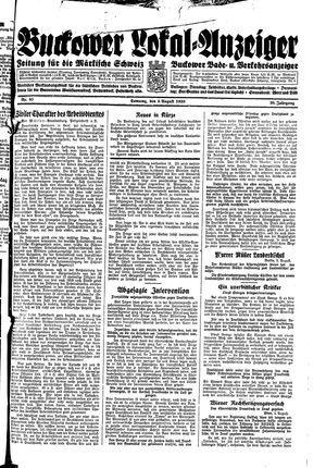 Buckower Lokal-Anzeiger vom 06.08.1933