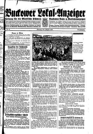 Buckower Lokal-Anzeiger vom 08.08.1933