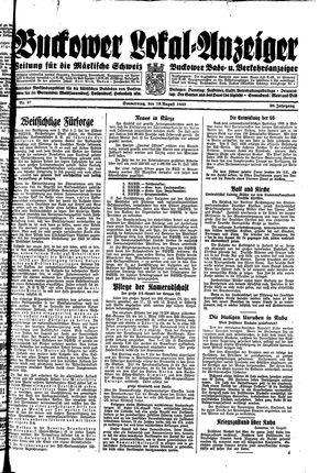 Buckower Lokal-Anzeiger vom 10.08.1933