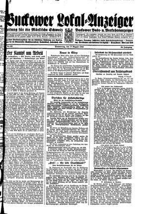 Buckower Lokal-Anzeiger vom 17.08.1933
