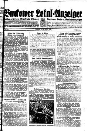 Buckower Lokal-Anzeiger vom 20.08.1933