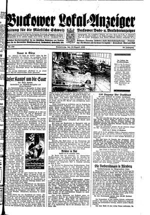 Buckower Lokal-Anzeiger on Aug 24, 1933