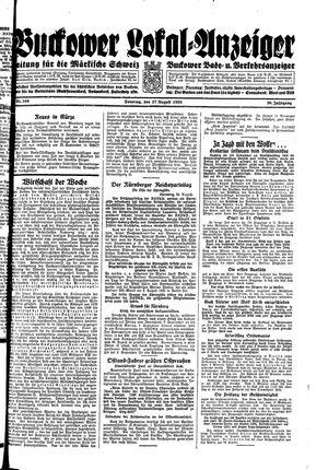 Buckower Lokal-Anzeiger vom 27.08.1933