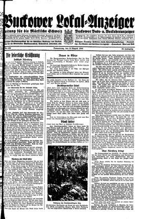 Buckower Lokal-Anzeiger vom 31.08.1933