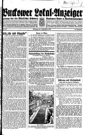 Buckower Lokal-Anzeiger vom 05.09.1933
