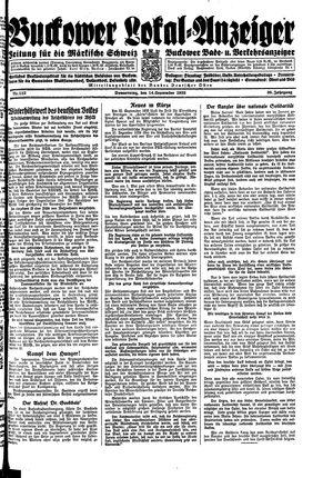 Buckower Lokal-Anzeiger vom 14.09.1933