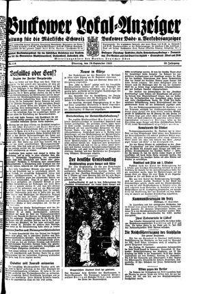 Buckower Lokal-Anzeiger on Sep 19, 1933