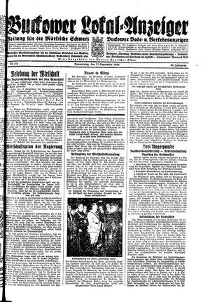 Buckower Lokal-Anzeiger vom 21.09.1933