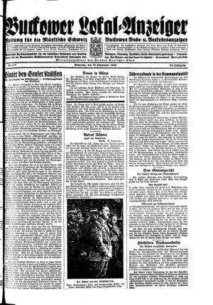 Buckower Lokal-Anzeiger vom 26.09.1933