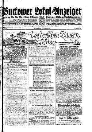 Buckower Lokal-Anzeiger vom 01.10.1933