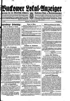 Buckower Lokal-Anzeiger vom 03.10.1933