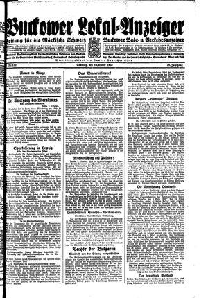 Buckower Lokal-Anzeiger on Oct 8, 1933