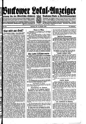 Buckower Lokal-Anzeiger vom 15.10.1933