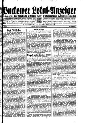 Buckower Lokal-Anzeiger vom 17.10.1933
