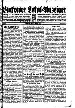 Buckower Lokal-Anzeiger vom 19.10.1933