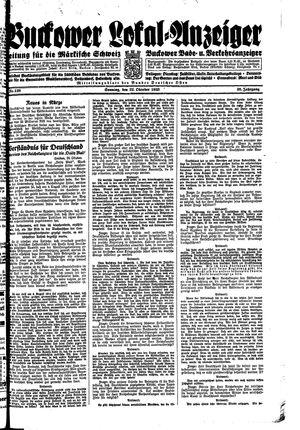 Buckower Lokal-Anzeiger vom 22.10.1933
