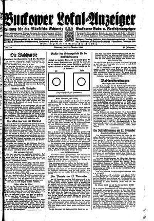 Buckower Lokal-Anzeiger vom 24.10.1933