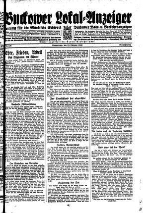 Buckower Lokal-Anzeiger vom 26.10.1933
