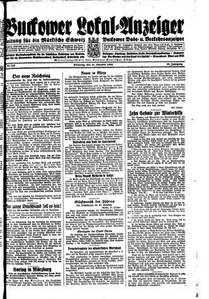 Buckower Lokal-Anzeiger on Oct 31, 1933