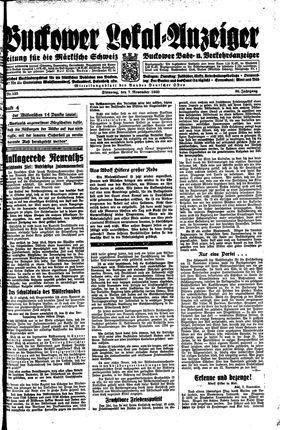 Buckower Lokal-Anzeiger vom 07.11.1933