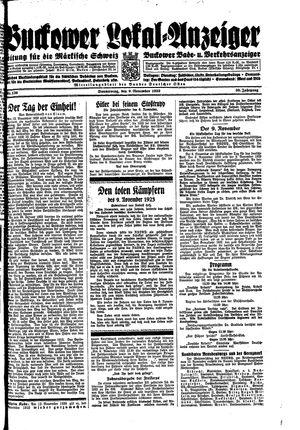 Buckower Lokal-Anzeiger vom 09.11.1933