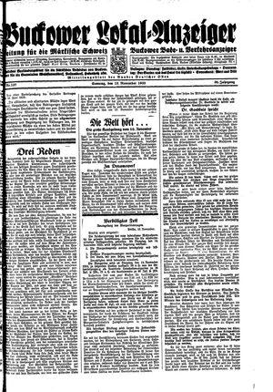 Buckower Lokal-Anzeiger vom 12.11.1933