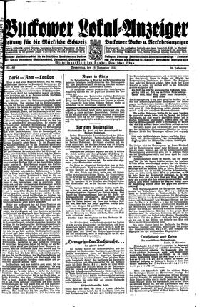 Buckower Lokal-Anzeiger on Nov 16, 1933