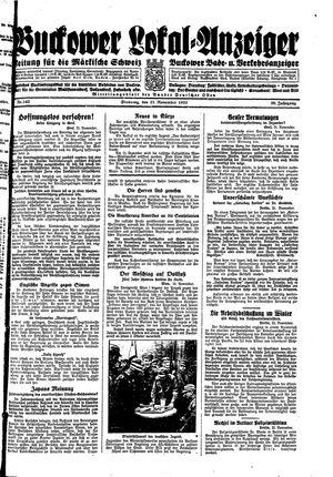 Buckower Lokal-Anzeiger vom 21.11.1933