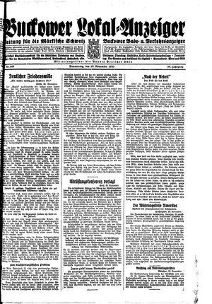 Buckower Lokal-Anzeiger on Nov 23, 1933
