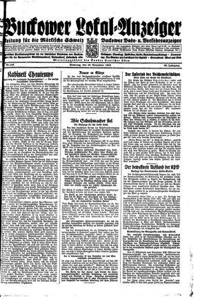 Buckower Lokal-Anzeiger vom 28.11.1933