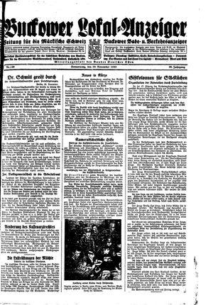 Buckower Lokal-Anzeiger vom 30.11.1933