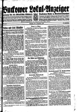 Buckower Lokal-Anzeiger vom 03.12.1933