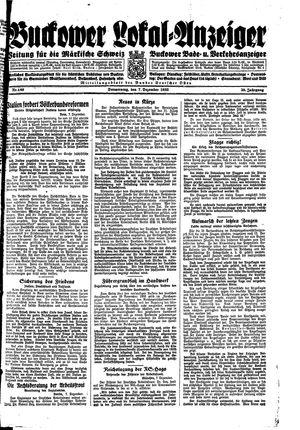 Buckower Lokal-Anzeiger vom 07.12.1933