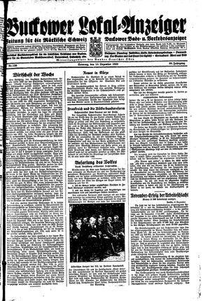 Buckower Lokal-Anzeiger vom 10.12.1933