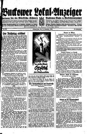 Buckower Lokal-Anzeiger vom 14.12.1933