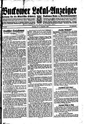 Buckower Lokal-Anzeiger vom 17.12.1933