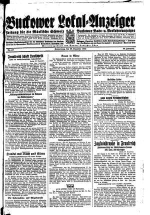 Buckower Lokal-Anzeiger vom 28.12.1933