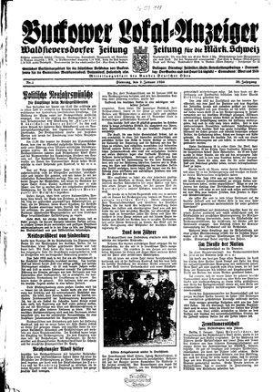 Buckower Lokal-Anzeiger vom 02.01.1934