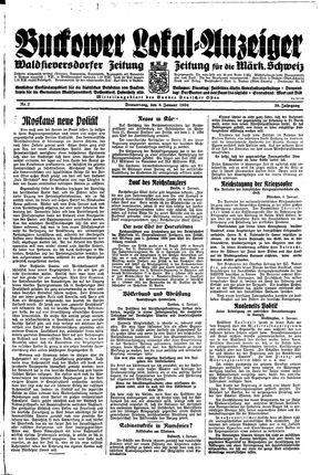 Buckower Lokal-Anzeiger vom 04.01.1934