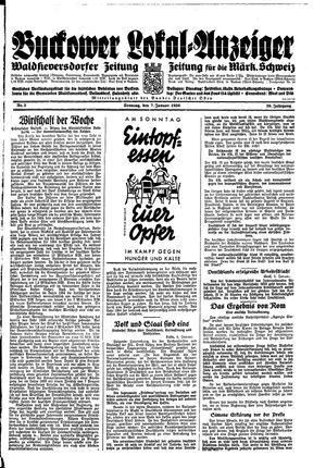 Buckower Lokal-Anzeiger vom 07.01.1934
