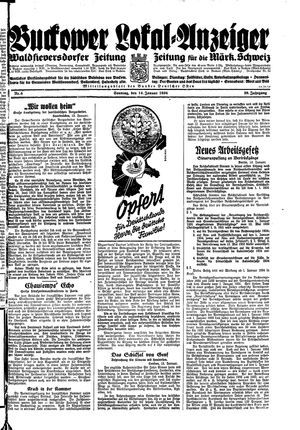 Buckower Lokal-Anzeiger on Jan 14, 1934