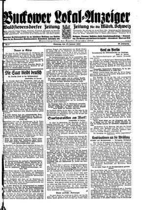 Buckower Lokal-Anzeiger vom 16.01.1934